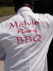 There's no sign on the building, but there is on Melvin's back. (Photo: Tom Adkinson)