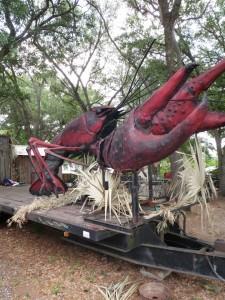 Every Cajun parade needs a good crawfish float. (Photo: Tom Adkinson)